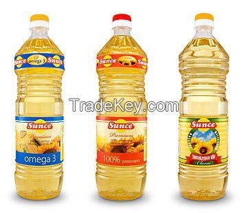 Sunflower oil refined and crude bulk, bottled 1 L. FOB Odessa