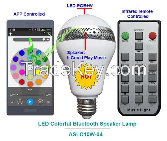 with Remote Multicolored Music LED Bulb
