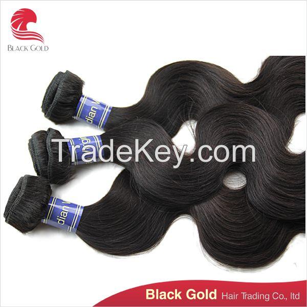 Unprocessed body wave hair, Cambodian hair cheap sale