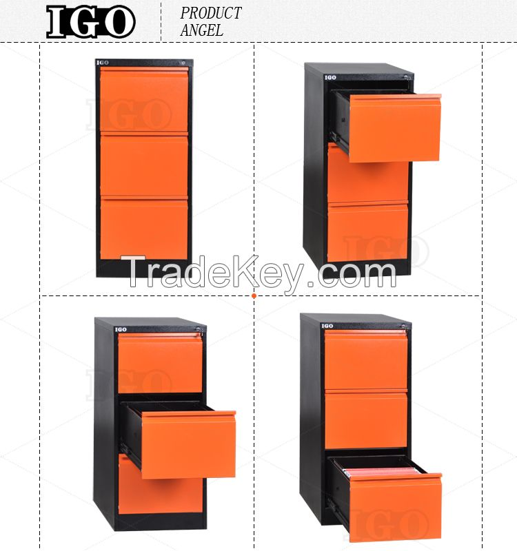 Vertical 3 Drawers Filing Cabinet