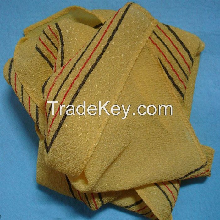 italy korea exfoliating shower towel body scrub cloth magic peeling