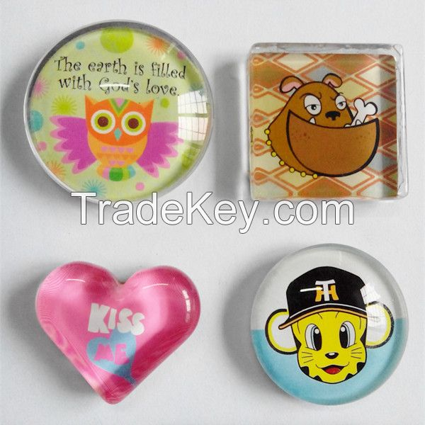 high quality souvenir glass fridge magnet made in china