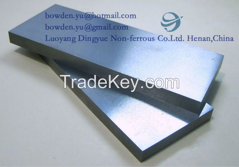 Polishing tungsten plate foil