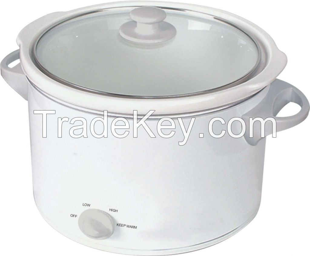 5.5L oval slow cooker