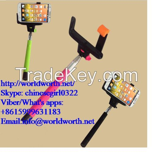 Factory Supply 2014 Wholesale Selfie Stick With bluetooth wireless Monopod Self-portrait Camera Z07-5 Kjstar Selfie Stick Kjstar Z07-5 Wireless Mobile Phone Monopod Legoo Selfie Stick