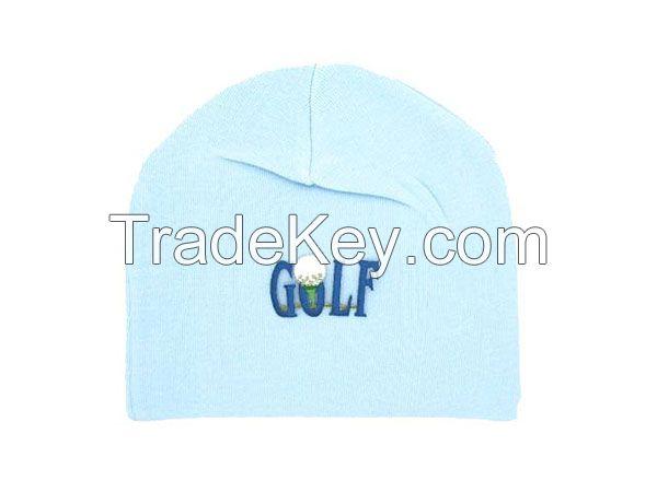 Baby Blue Applique Hats
