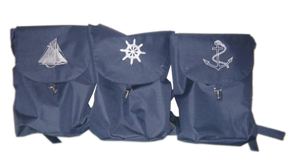 nautical canvas bag and pen holder stock / storage discount wholesale