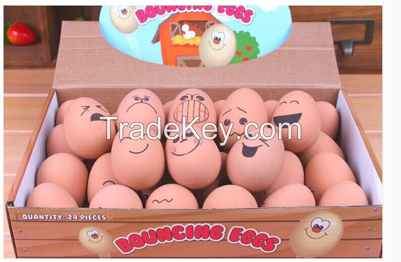 Pet's toy / Rubber egg/ funny face