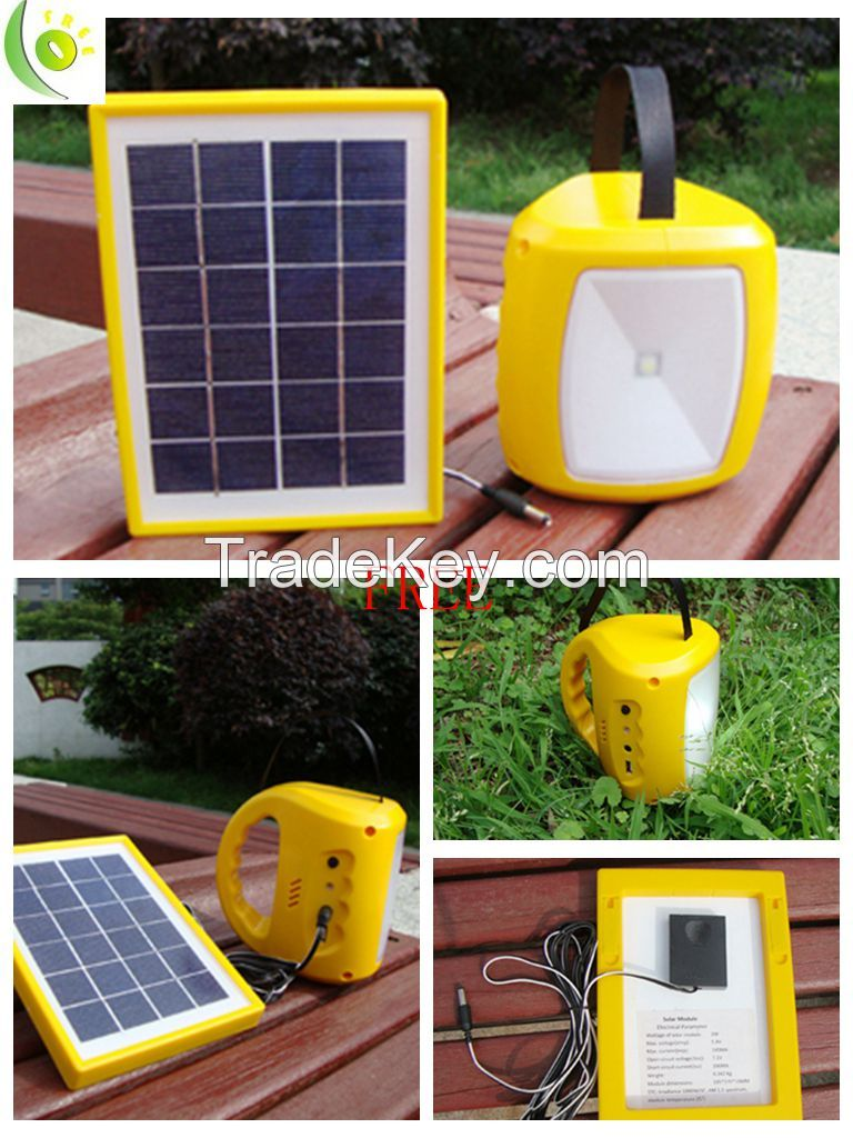 1W solar lantern with sunflower colour