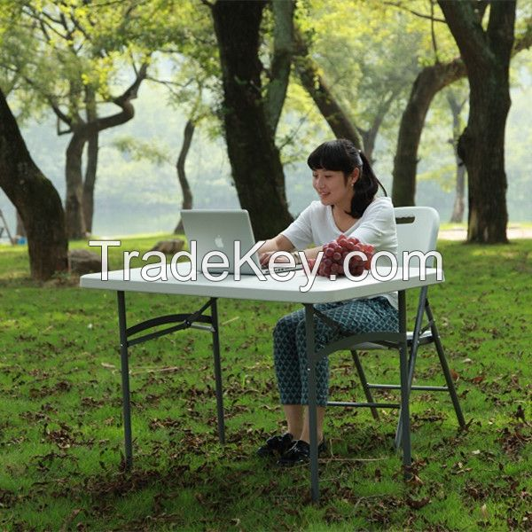 Outdoor kids study table/picnic table/portable computer table, 4ft plastic folding table