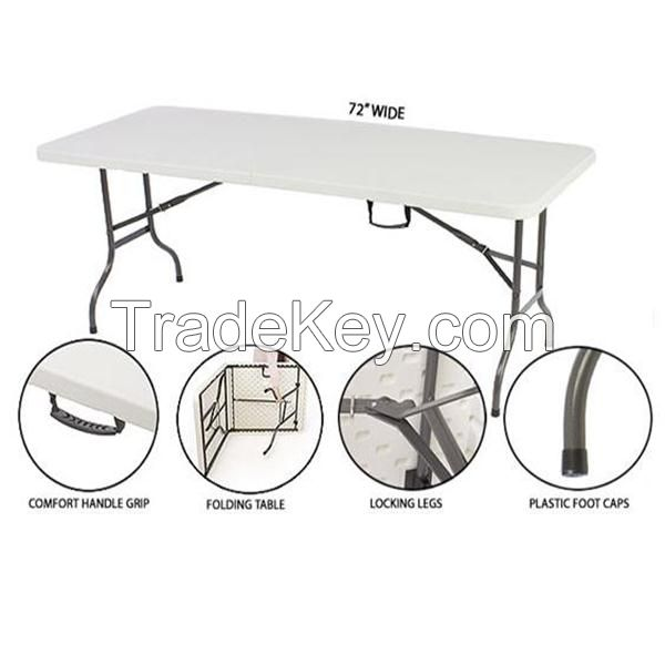 Outdoor camping/picnic/banquet/wedding/dining table, 6ft plastic folding table
