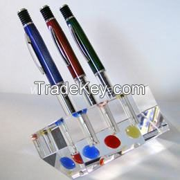 CRYSTAL PEN HOLDERS