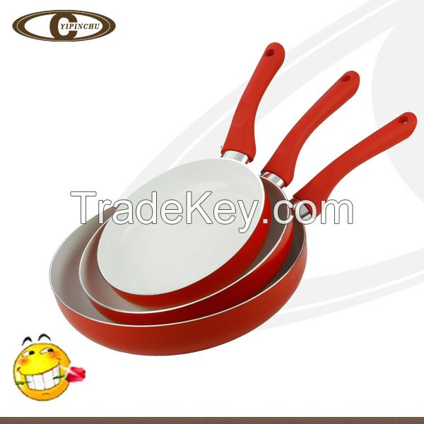 Styling utensils aluminum ceramic fry pan non-stick frying pan