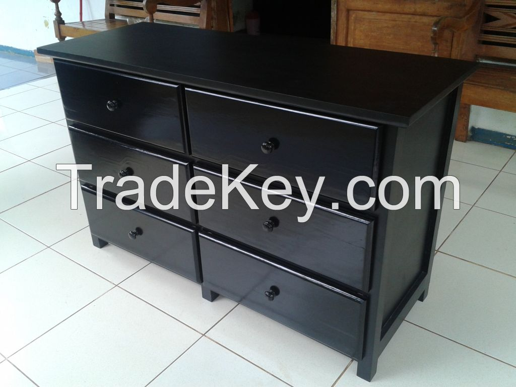 Wooden Three Drawers