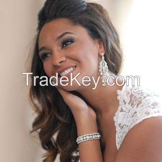 Wedding Jewelry Crystal Rhinestone Earring For Lady Bridal