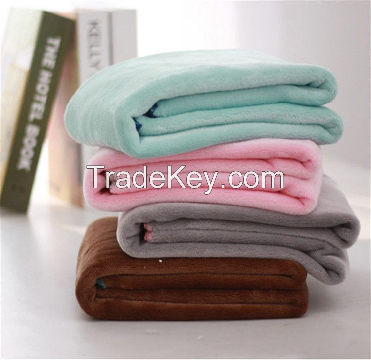 2014 100% polyester fleeece blankets for adult and baby customize blankets