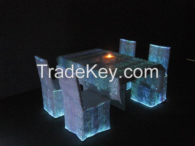Attractive wedding chair covers with led lights luminous chair cover for decoration