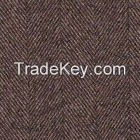 100% Wool worsted fabrics Brown Striped Suiting