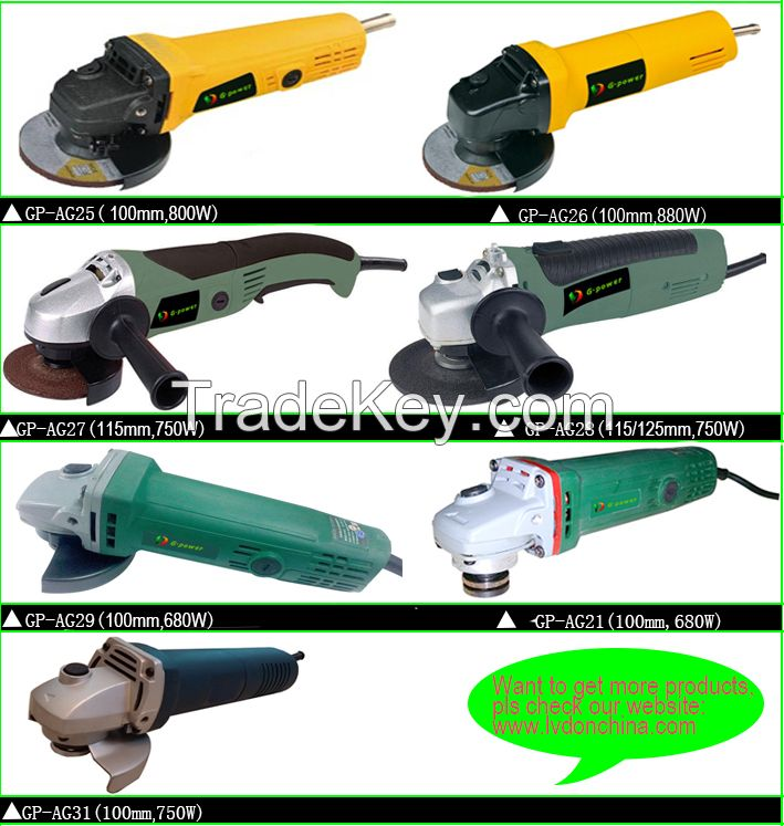 hot sale and popular 100/115/125/180/230mm angle grinder power tools