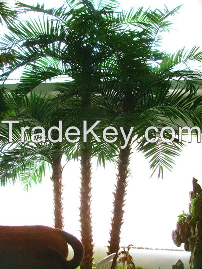 Landscaping real look and touch artificial palm tree