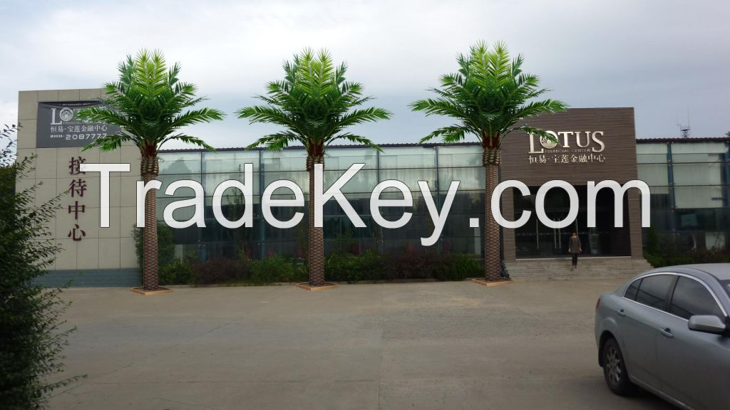 outdoor landscaping artificial canary date palm tree wholesale