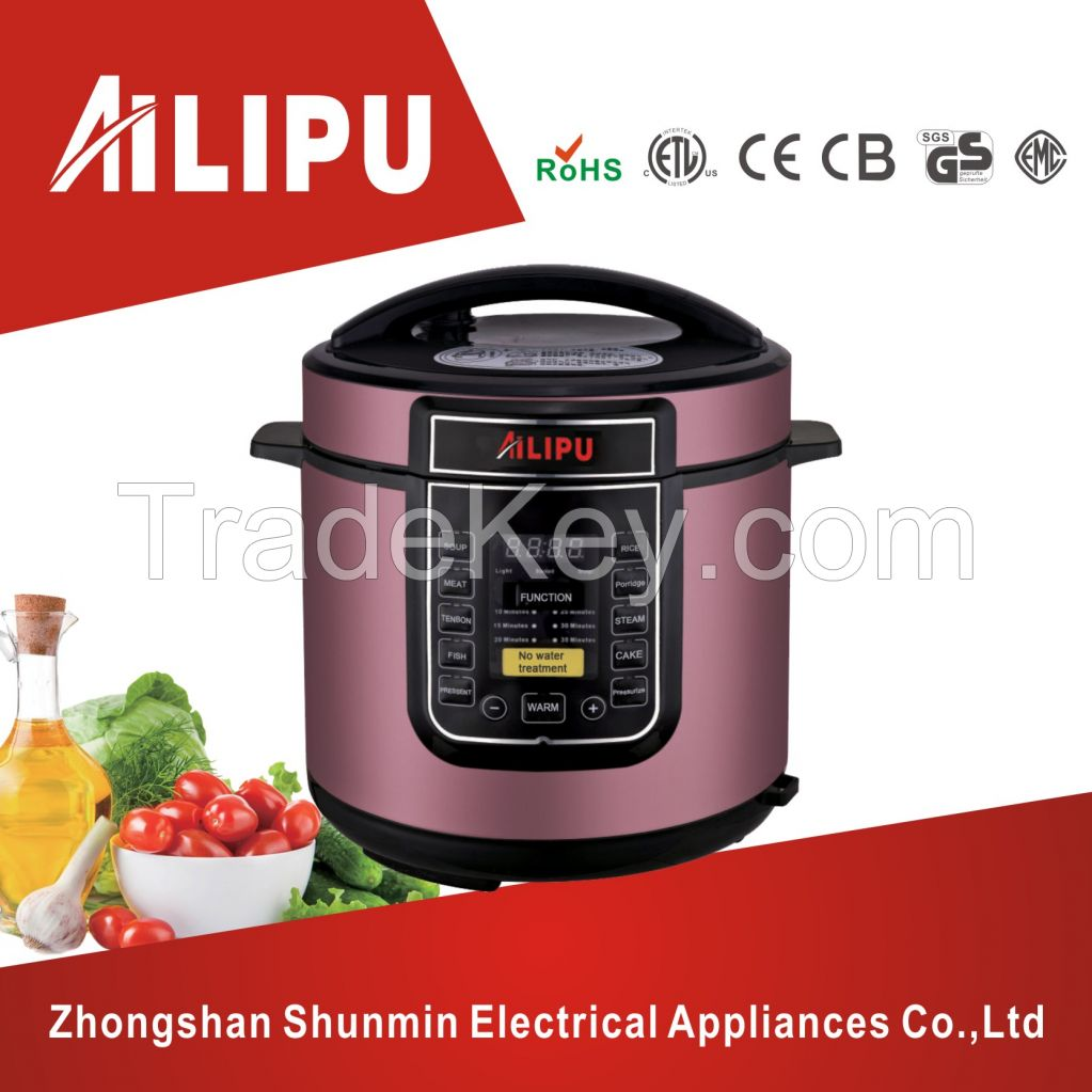 CE/CB/RoHS/ETL approved 5.0L or 6.0L electric pressure cooker/portable rice cooker/soup cooker with 24hours preset function