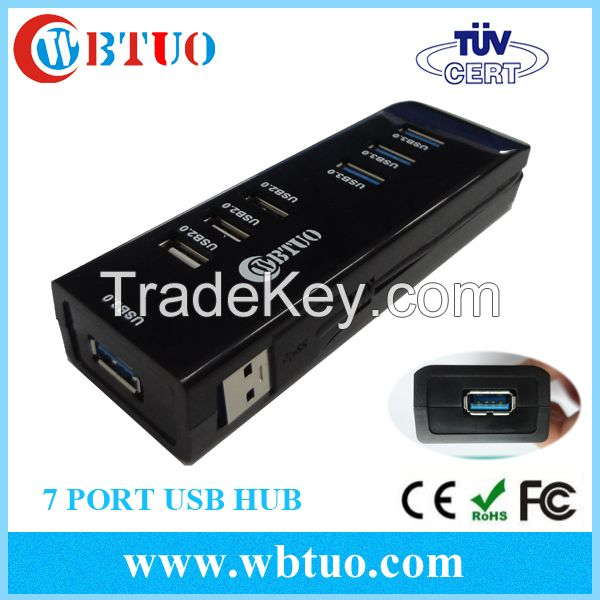 WBTUO hotsell OEM fine usb hub 7port USB3.0 hub