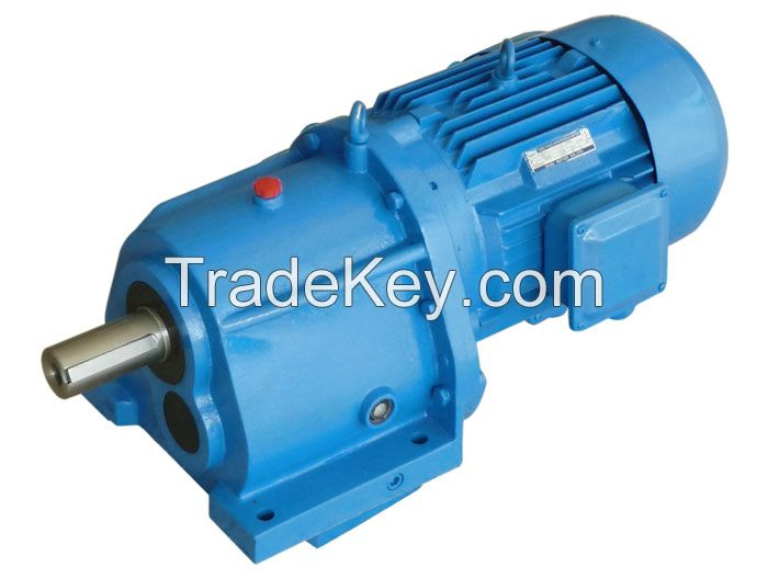 R series helical gear speed reducer with solid output