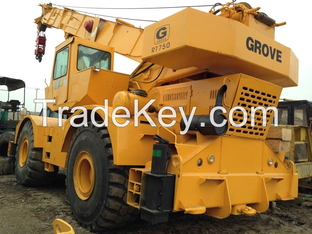 GROVE RT750 rough terrain crane