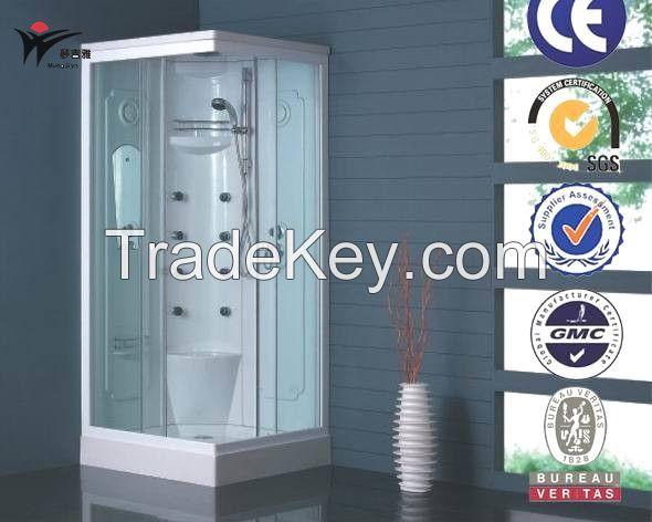 sector arc curved shape sliding glass door shower cubicel unit