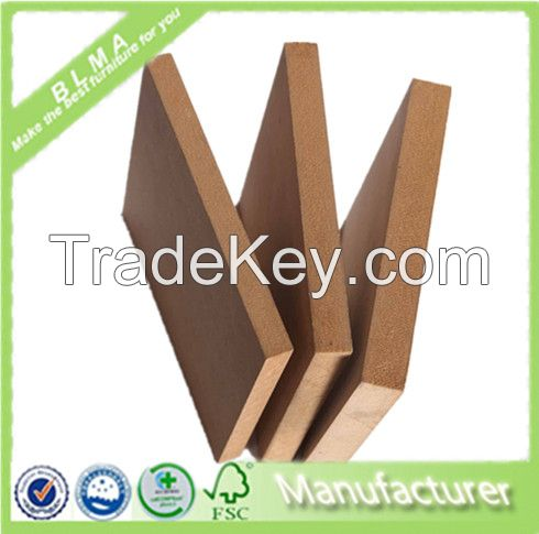 China high quality 18mm raw/plain MDF