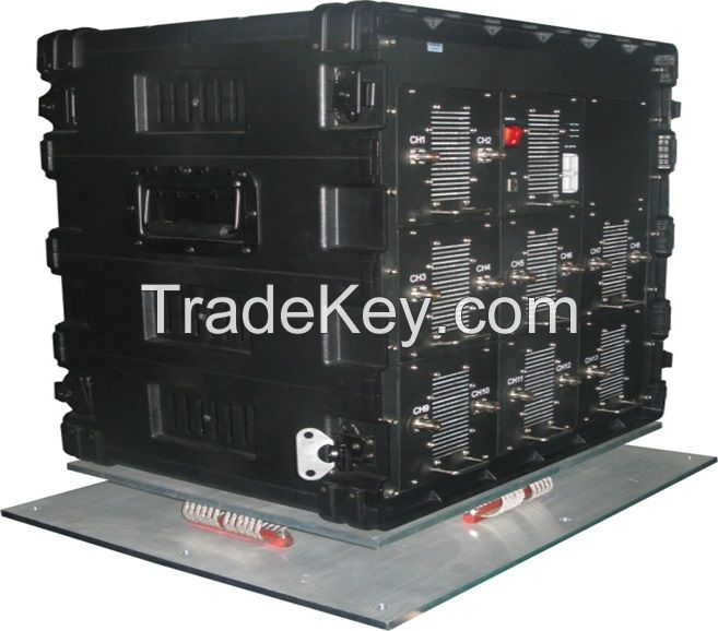 Vehicle Military Convoy Protection Roof Mounted DDS High Power Full Band  System 25-6000MHz  Jammer