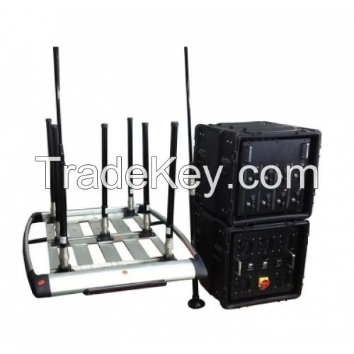 RCIED Bomb Portable Pelican Convoy 8 bands 510W Jammer (up to  1km )