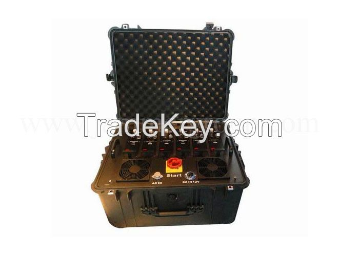High Power 300W  VHF UHF NMT CDMA Single Jammer (Waterproof shockproof design)