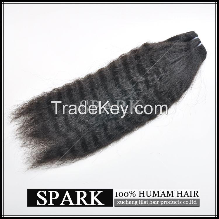 kinky straight virgin human hair