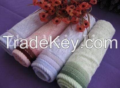 Bamboo cotton face towel