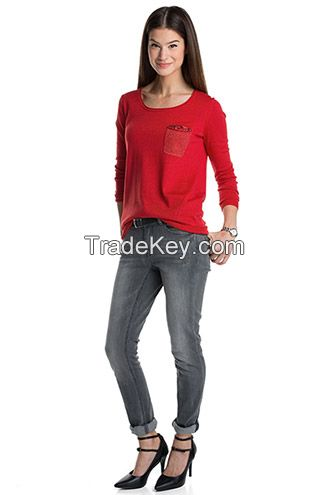 new  design  body  fitting  woman  pullover  sweater