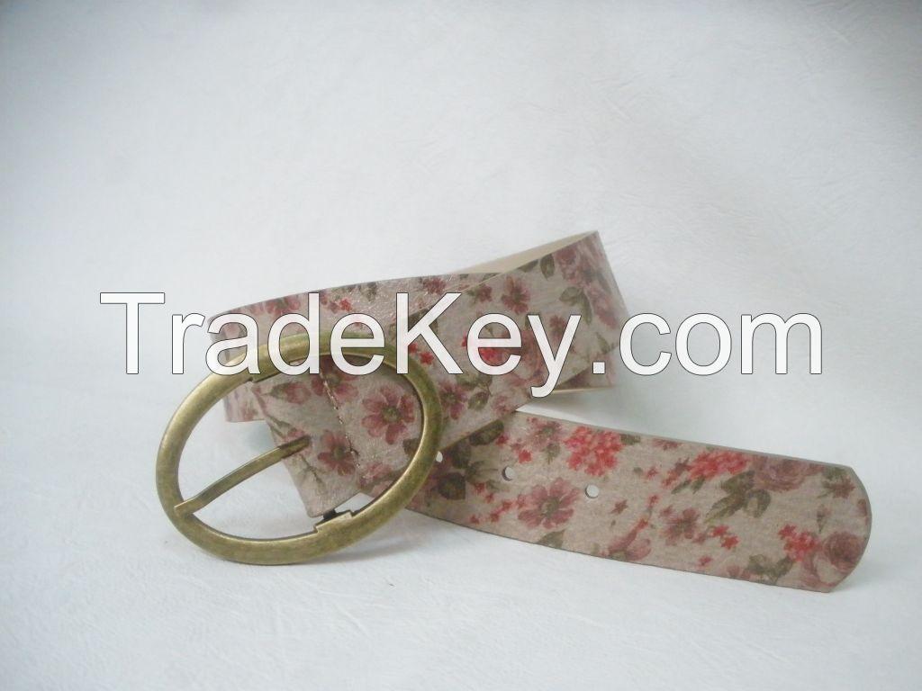 Belt with Flower Pattern