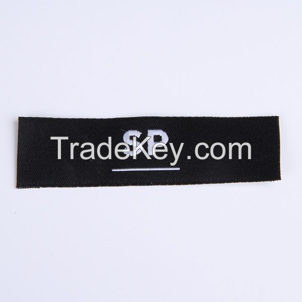 High density end folded garment woven labels