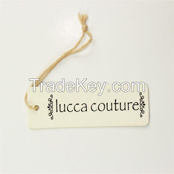 Matt paper card printed hang tags for garment