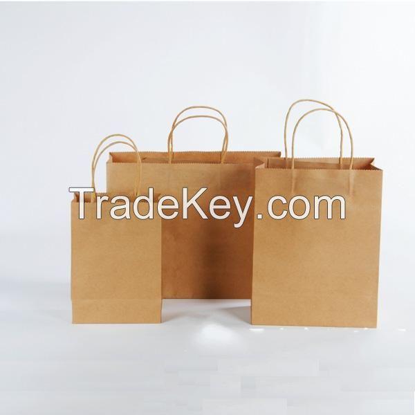 Fancy custom printed kraft paper bag for apparel shopping bags