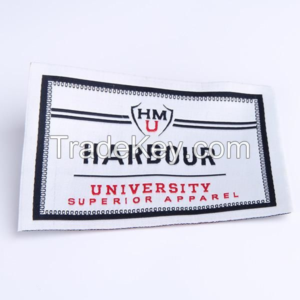 High quality vintage main garment neck woven labels for clothing