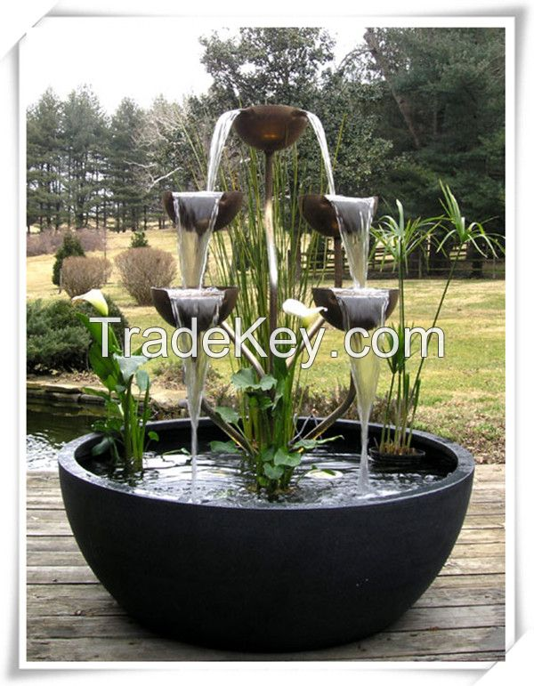 Best selling elegant China handicraft stainless steel water fountain