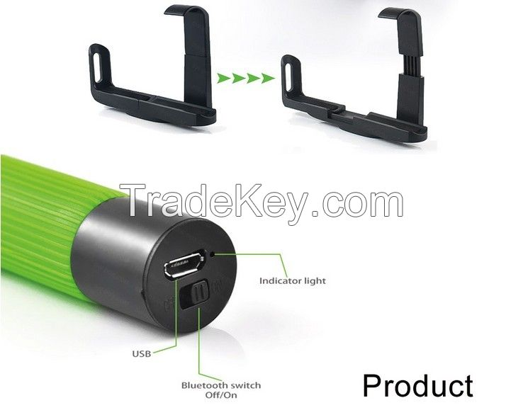 Hotsale Colorful elevator button self-shooting monopod for htc