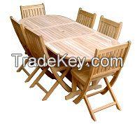 garden folding wooden set