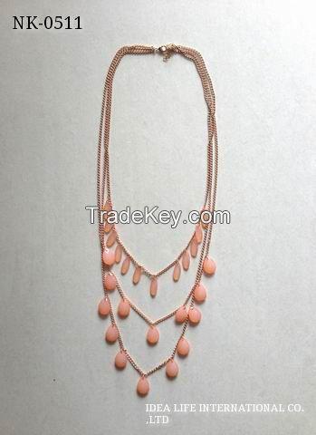 acrylic beads necklace