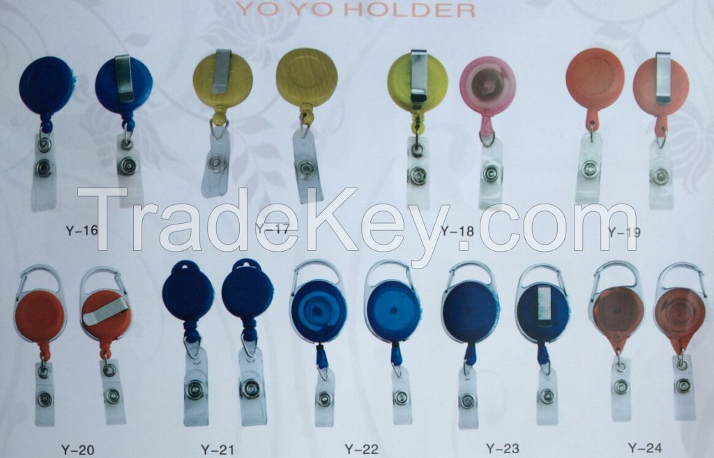 Custom Round Yoyo Badge Reel For Badge Holder with Lighter Leash