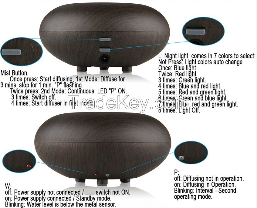 China supplier electric essential oil diffuser / ultrasonic aroma diff