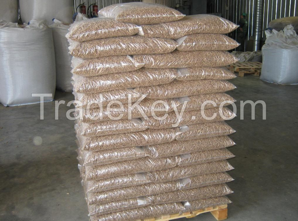 6-8mm Dinplus certified wood pellets