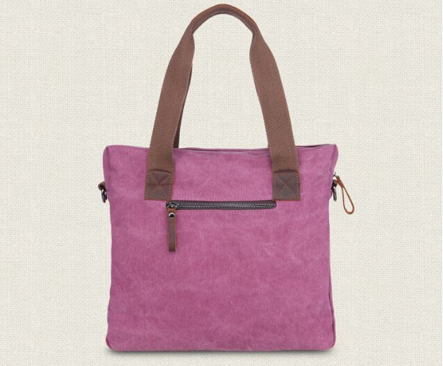 Washed Canvas Handbag